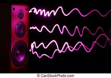 audio, spreker, effect