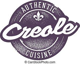authentiek, het koken, creole