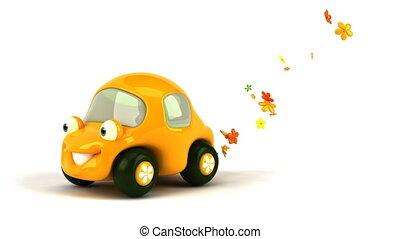 auto, bloem macht
