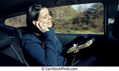 auto, boze vrouw, zakelijk