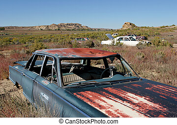 auto, graveyard