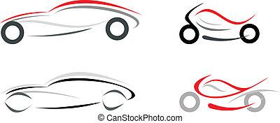 auto, motorfiets
