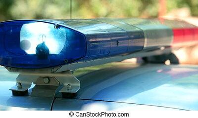 auto, politie, lichten