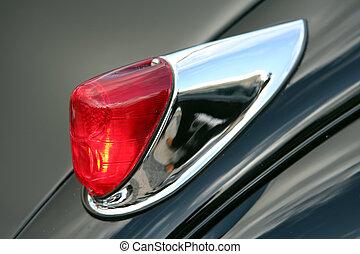 auto, retro, licht