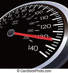 auto, snelheid, meter