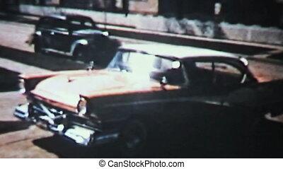 auto, uit, ruggen, driveway-1958, nieuw