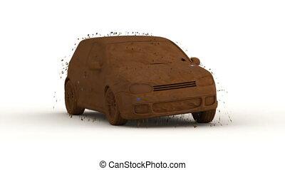 auto, vasten, wassen