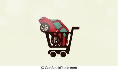 auto, video, animatie, kopen, ontwerp