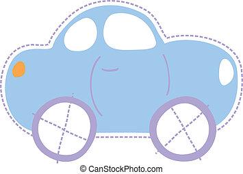auto, weinig; niet zo(veel), kindertijd