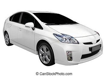 auto, witte , hybride