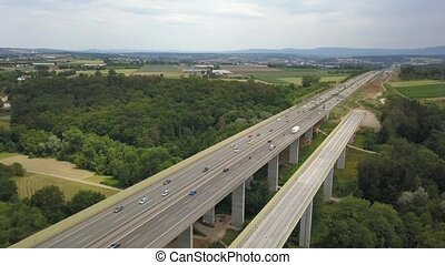 autobahn, duitser, aanzicht, werken, bouwsector, luchtopnames