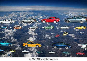 auto's, vliegen
