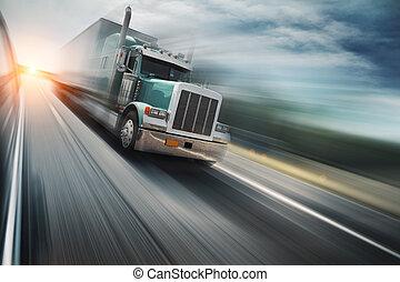 autoweg, vrachtwagen
