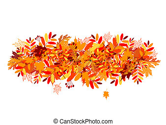 autumn leaves, ontwerp, jouw, achtergrond