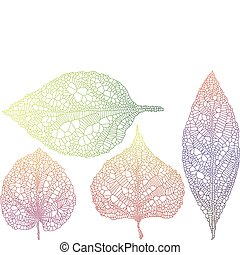 autumn leaves, textured