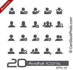 avatar, grondbeginselen, iconen, //