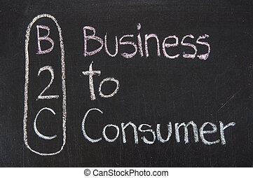 b2c, acroniem, zakelijk, consument