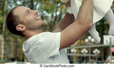 baby dochter, zijn, vader