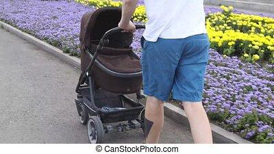 baby, hun, wandelende, wandelaar, man