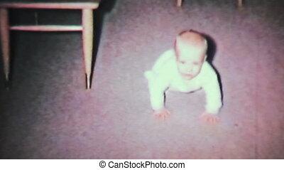 baby jongen, crawl-1964, leren, 8mm