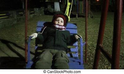 baby jongen, park