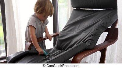 baby jongen, stoel, vacuums