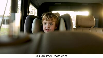 baby jongen, zetel, kinderen, auto