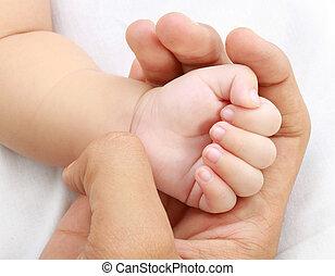 baby, kleine hand