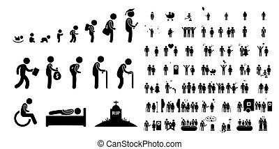 baby leven, kind, witte , student, achtergrond, menselijk, oud