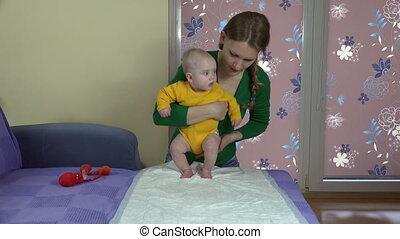 baby, mamma, oefening
