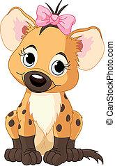 baby meisje, hyena