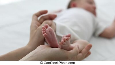 baby, ouder, hand