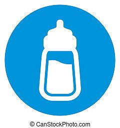 baby, pictogram, melk fles