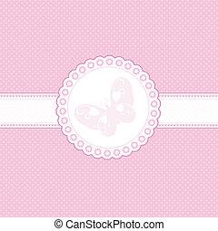 baby, rooskleurige achtergrond