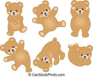 baby, schattig, beer, teddy