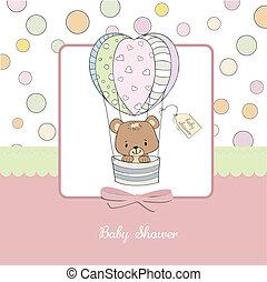 baby stortbad, delicaat, kaart