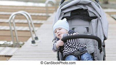 baby wandelaar, mamma
