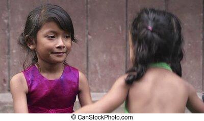 baby, weinig; niet zo(veel), aziatisch meisje, vrolijke