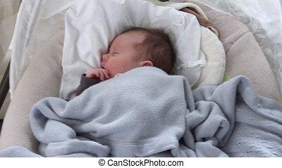 baby, wiegje, slapende