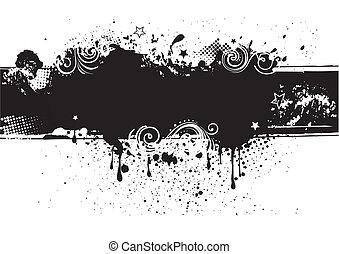 back, inkt, illustration-grunge, vector