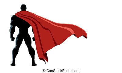 back, vrijstaand, superhero