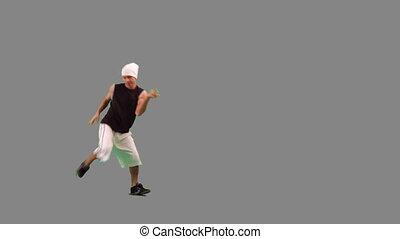 backgroung, dancing, grijze , kerel, heup-hop