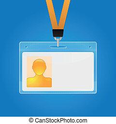 badge, identificatie, plastic