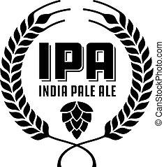 badge, of, bleek, india, ipa, label., ale