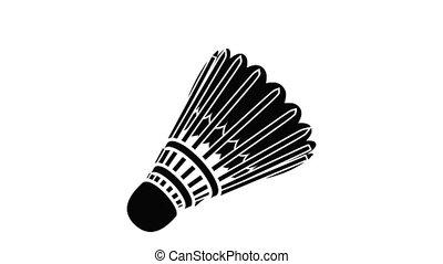 badminton, animatie, pictogram