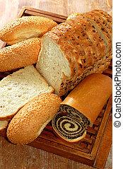 bakkerij, anderen, producten, assortiment, gebakken brood
