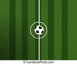 bal, achtergrond, aanzicht, centrum, voetbal, bovenzijde, akker