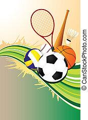 bal, achtergrond, sporten
