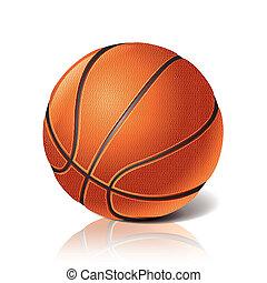 bal, basketbal, vector, illustratie