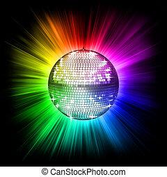 bal, disco, kleurrijke